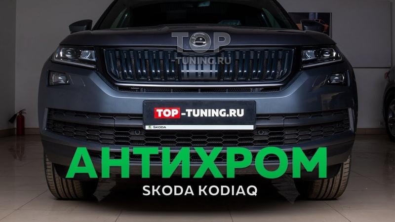 Черная решетка и защита радиаторов в Skoda Kodiaq
