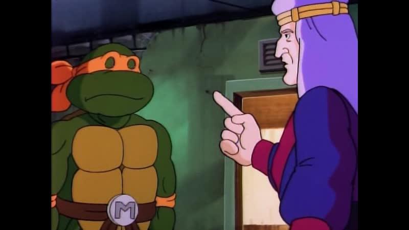 Черепашки мутанты ниндзя | Священная черепашка Микеланджело Michalangelo, the Sacred Turtle (1991) - Эпизод 124 (Сезон 5)