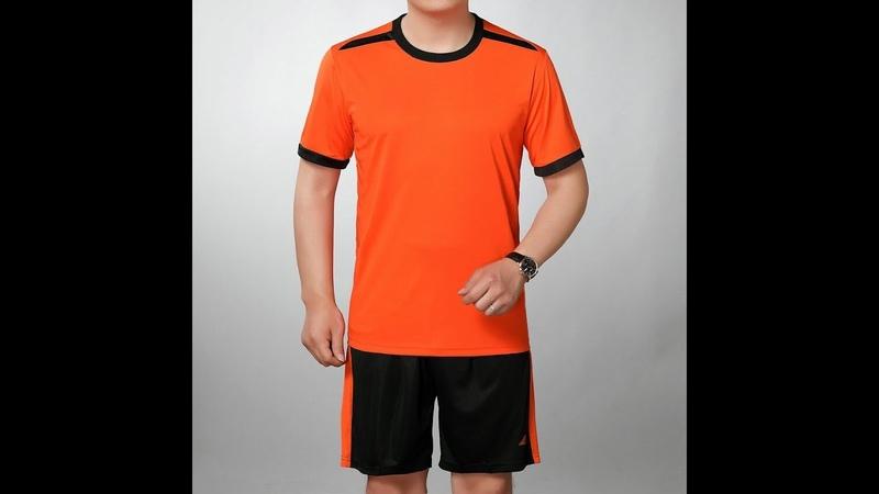 Летний яркий мужской спортивный костюм желтая красная оранжевая зеленая тонкая футболка и черные шорты комплект из 2