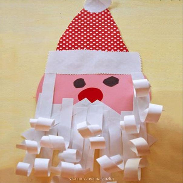 ПОДЕЛКА ИЗ БУМАГИ «ДЕД МОРОЗ» Дед Мороз идёт на праздникВ красной шубе, в валенках,Он несёт с собой подаркиДля детишек