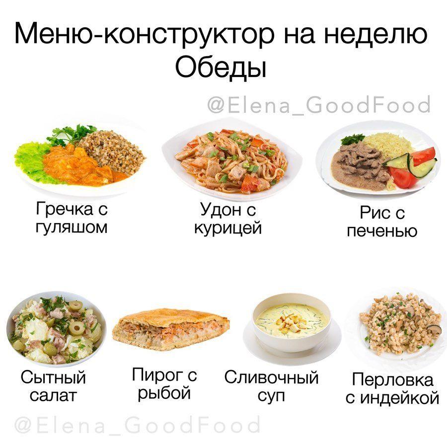 Меню завтраков