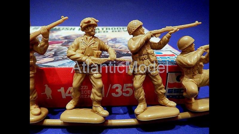 Солдатики 1 35 ESCI Красные дьяволы 2МВ 3
