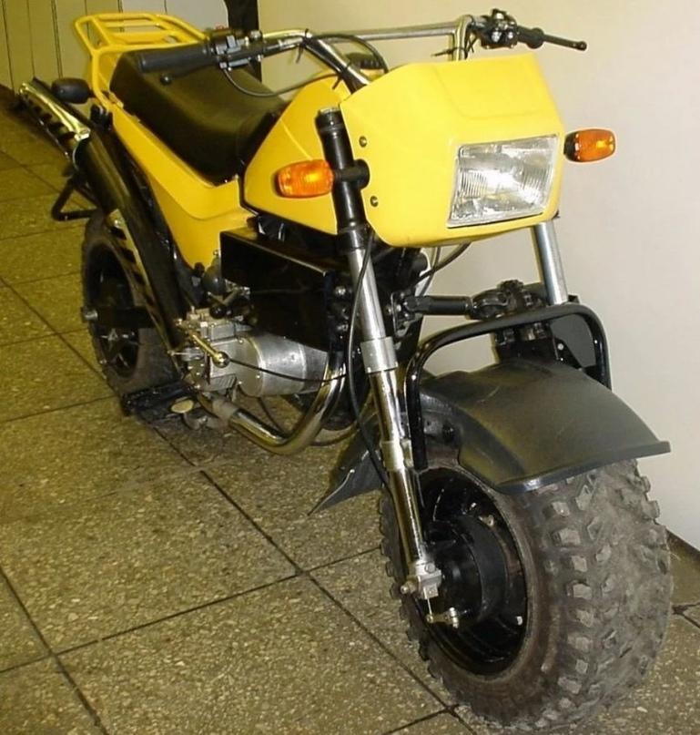 """ЗИД """"Тарзан"""" — мотоцикл с двумя ведущими колёсами, созданный для покорения Эльбруса, изображение №5"""