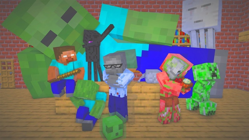 MONSTER SCHOOL BREWING ZOMBIE CHALLENGE Minecraft Animation