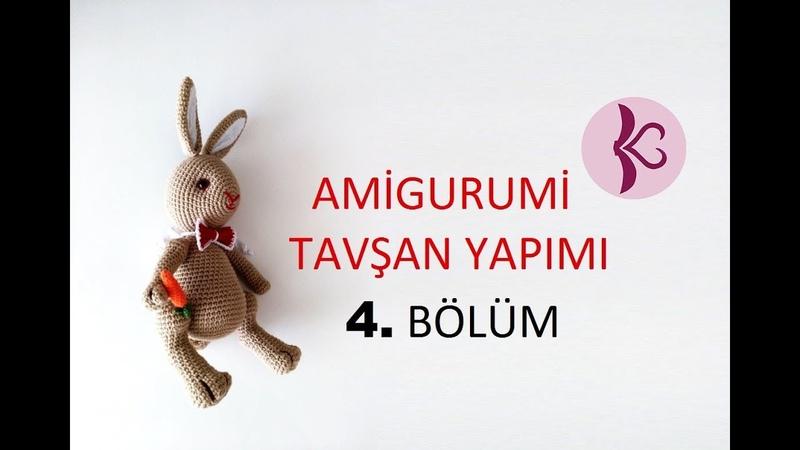 Tavşan Yapımı 4 Bölüm Amigurumi Dersleri 4 4 Rabbit Ribbon Carrot Attach Body Parts