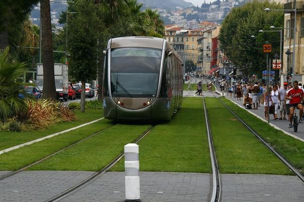 Интересно. Зеленые трамвайные пути в Европе