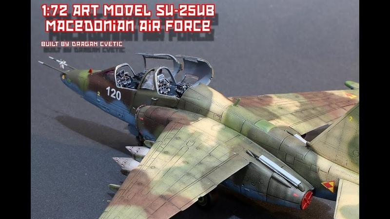 Sukhoi Su-25UB Macedonian Air Force 172 Art Model Full Video Build