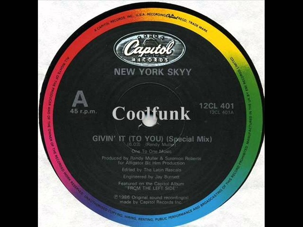 New York Skyy Givin' It To You 12 Special Mix 1986