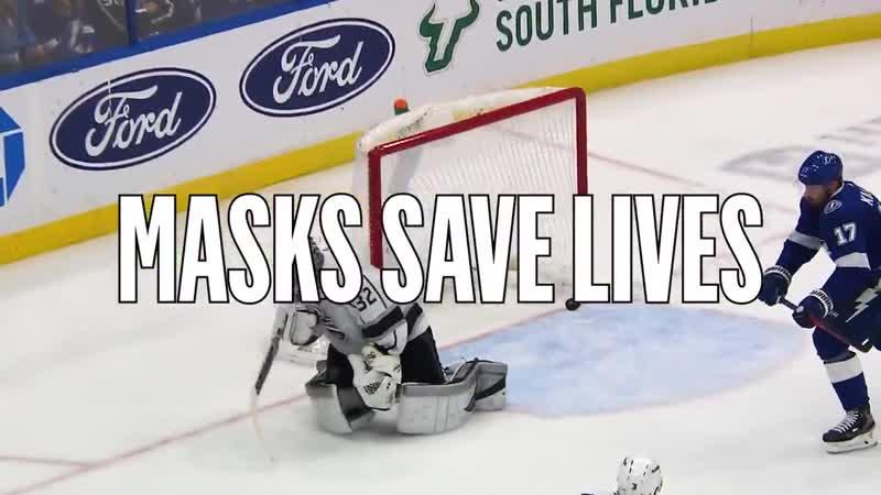 НХЛ Маски спасают жизни Не забывай носить защитную маску в публичных местах