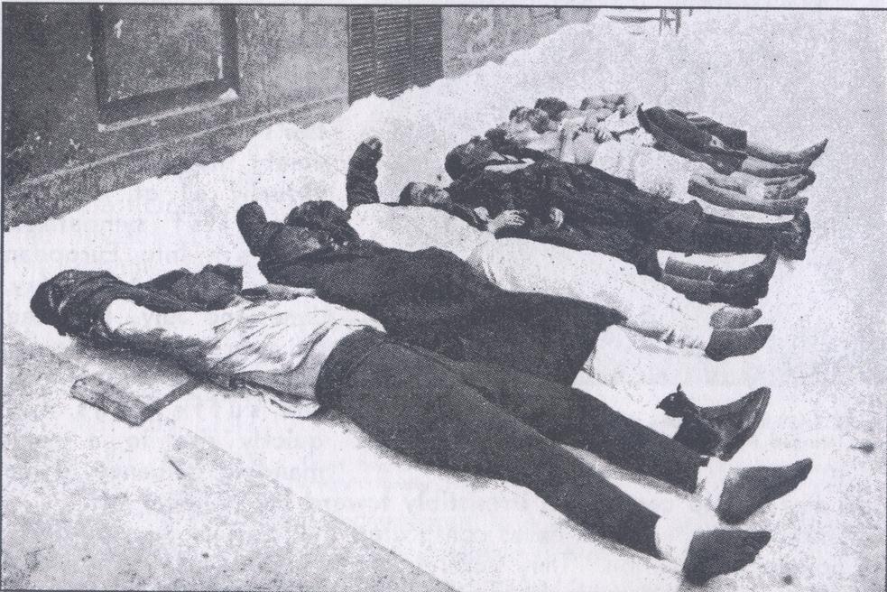 Жертвы красного террора — фото 1919 года